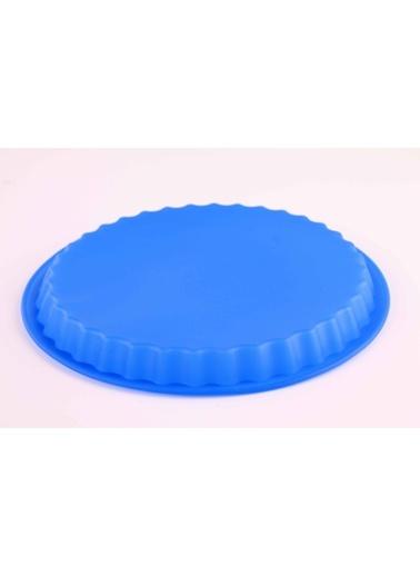 Mavi Muffinform Silikon Büyük Kek Kalıbı-Dekotrends
